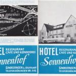 Alter Prospekt Hotel Sonnenhof in Sindelfingen
